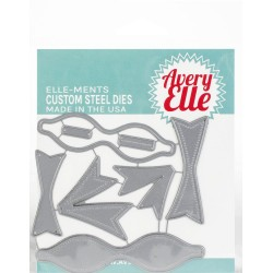 Wonky 3D Bow Die Elle-ments Custom Steel Dies Avery Elle