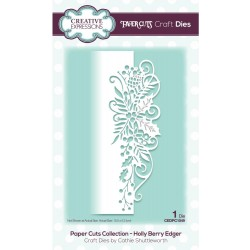 Holly Berry Edger Paper Cuts Edger Craft Dies Creative Expressions