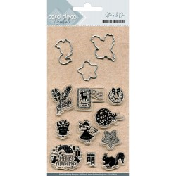 Holly Jolly Card Deco Stamp & Die Set Find It Trading