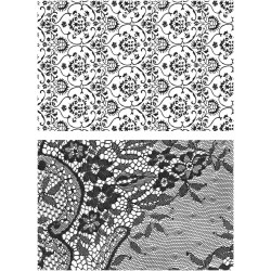 "Ornate & Lace Cling Rubber Stamp Set 7""x8.5"" Tim Holtz"