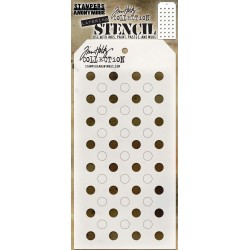 Shifter Dots Tim Holtz Layering Stencil