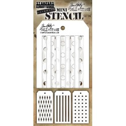 Set 36 Tim Holtz Mini Layering Stencil 3 Pkg