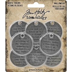 Halloween Quote Tokens Idea-ology by Tim Holtz