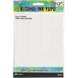 Yupo White Heavystock Alcohol Ink Paper 144lb by Tim Holtz Ranger