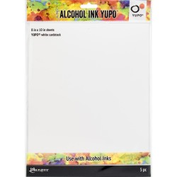 Yupo White Cardstock Alcohol Ink Paper 86lb by Tim Holtz Ranger