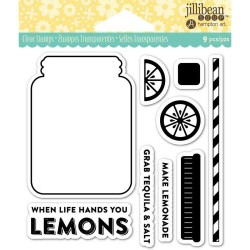 "Lemonade Clear Stamps 4""x4"" Jillibean Soup"