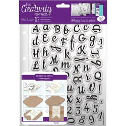 Script Alphabet A5 Clear Stamp Set 67 Pkg Creativity Essentials Docrafts