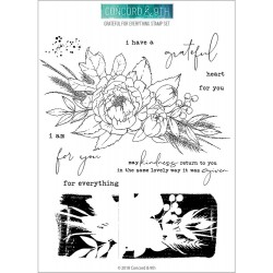 "Grateful For Everyting Stamp Set Clear Stamps 6""x8"" Concord & 9TH"