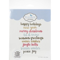 Words 5 - Winter Wishes Craft Metal Die Elizabeth Craft Designs 0