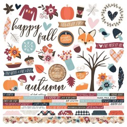 """Forever Fall Combo Cardstock Stickers 12""""x12"""" Simple Stories"""