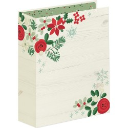 """Merry & Birght 6""""x8"""" Sn@p Holiday Binder Simple Stories"""