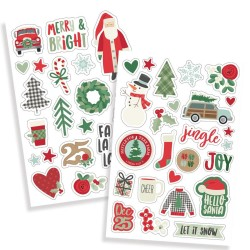 """Merry & Bright Puffy Stickers 4""""x6"""" Simple Stories"""