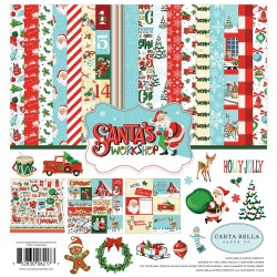 "Santa's Workshop 12""x12"" Collection Kit Carta Bella"