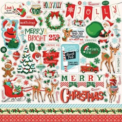 "Santa's Workshop 12""x12"" Element Sticker Carta Bella"