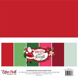 "Merry And Bright Coordinating Solids Paper Pack 12""x12"" Echo Park"
