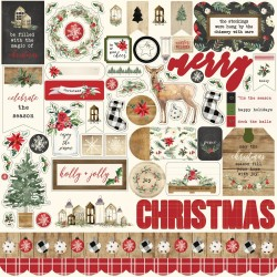 "Christmas 12""x12"" Element Sticker Carta Bella"