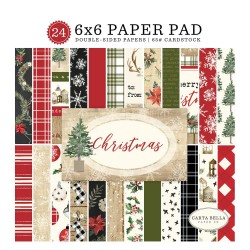 "Christmas 6""x6"" Paper Pad Carta Bella"