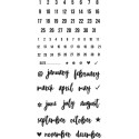 """It's Date Carpe Diem Photopolymer Clear Stamps 4""""x8"""" Simple Stories"""