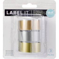 "Metallic Label IT 3/4"" Embsoos Tape Rolls We R Memory Keepers"