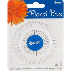 Pearl White Floral Pins Darice