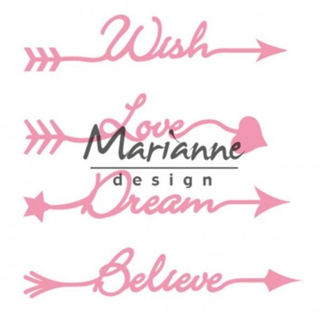 Arrow Sentiments Collectables Dies Marianne Design