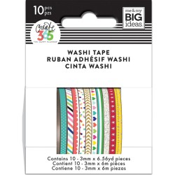Brights Mini Washi Tape Happy Planner Create 365 Me&My Big Ideas