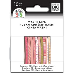 Pink Hues Mini Washi Tape Happy Planner Create 365 Me&My Big Ideas