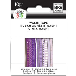 Purple Hues Mini Washi Tape Happy Planner Create 365 Me&My Big Ideas