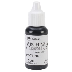 Potting Soll Archival Ink Reinker 0,5 oz Ranger