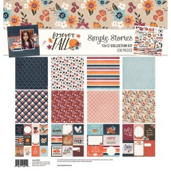 """Forever Fall Collection Kit 12""""x12"""" Simple Stories"""
