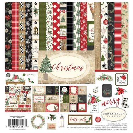 "Christmas 12""x12"" Collection Kit Carta Bella"