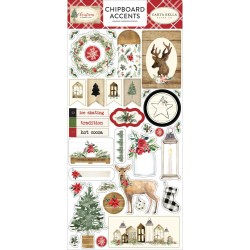"Christmas 6""x12"" Chipboard Accents Carta Bella"