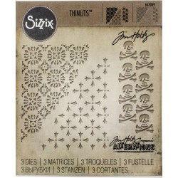 Mixed Media Halloween 2 Thinlits Dies by Tim Holtz Sizzix