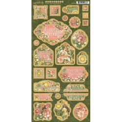 "Garden Goddess Chipboard Stickers 6""x12"" Graphic45"