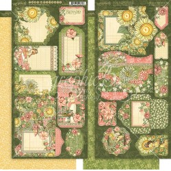 "Garden Goddess Tags & Pockets Cardstock Die Cuts 6""x12"" Graphic45"