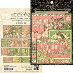 "Garden Goddess Journaling & Ephemera Cards 12""x12"" Graphic45"