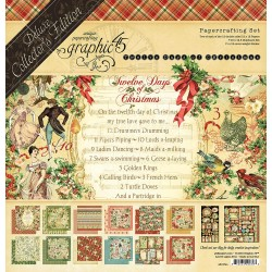 Twelve Days Of Christmas Deluxe Collector's Edition Papercrafting Set Graphic45