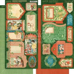 "Christmas Magic Tags & Pockets Cardstock Die Cuts 6""x12"" Graphic45"