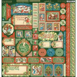 "Christmas Magic Cardstock Stickers 12""x12"" Graphic45"