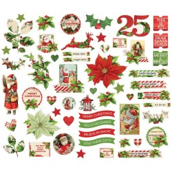 Simple Vintage Christmas Bits & Pieces Die-Cuts Simple Stories