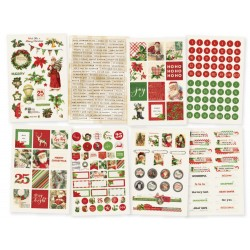 "Simple Vintage Christmas Stickers 4""x6"" Simple Stories"