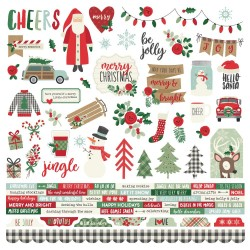 "Merry & Bright Combo Cardstock Stickers 12""x12"" Simple Stories"