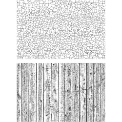 "Craze & Planks Cling Rubber Stamp Set 7""x8.5"" Tim Holtz"