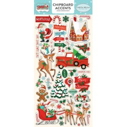 "Santa's Workshop 6""x12"" Chipboard Accents Carta Bella"