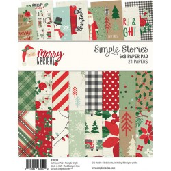 """Merry & Bright Paper Pad 6""""x8"""" Simple Stories"""