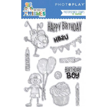Birthday Boy Wishes Photopolymer Stamps PhotoPlay