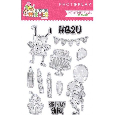 Birthday Girl Wishes Photopolymer Stamps PhotoPlay