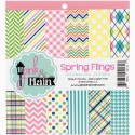 "Spring Flings Double-Sided Paper Pad 6""x6"" Pink & Main"