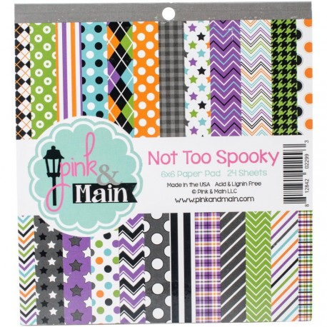 """Not Too Spooky Double-Sided Paper Pad 6""""x6"""" Pink & Main"""