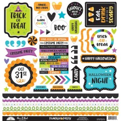 "Pumpkin Party Icons Cardstock Stickers 12""x12"" Doodlebug"